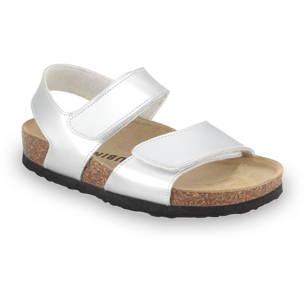 DIONIS sandály pro děti - koženka (23-29) - stříbrná, 25