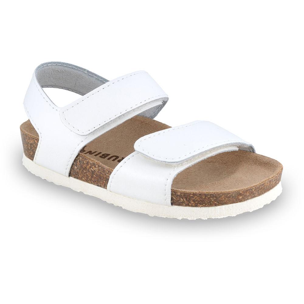 DIONIS sandály pro děti - kůže (30-35) - bílá, 34
