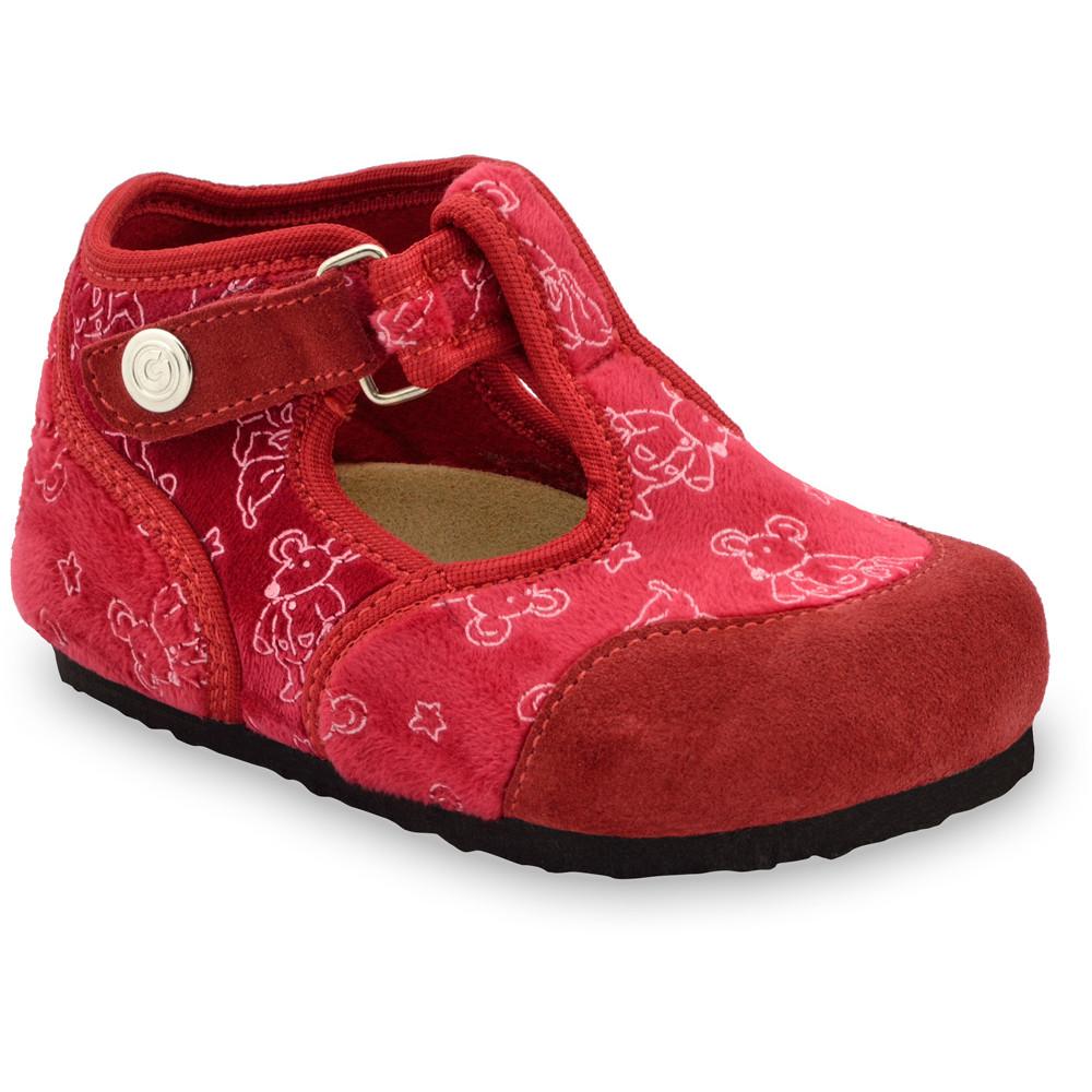 CORONA domácí zimní obuv pro děti - plsť (23-35) - ružová, 24