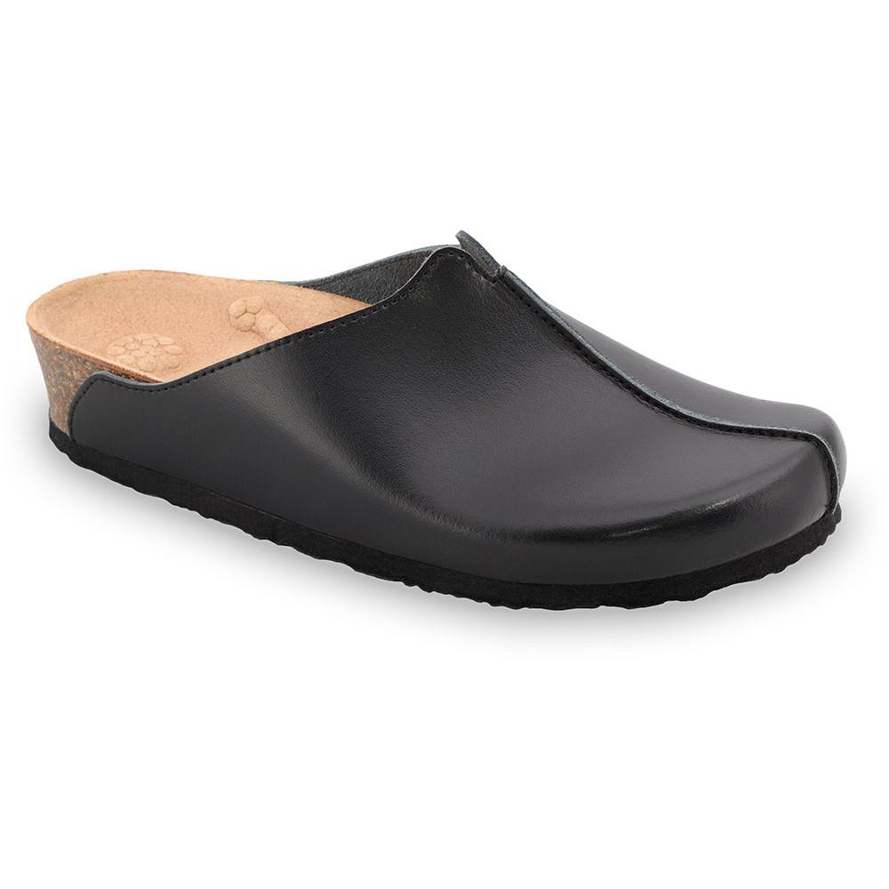 TRISTAN kožené dámské uzavřené papuče (37-41) - černá, 38