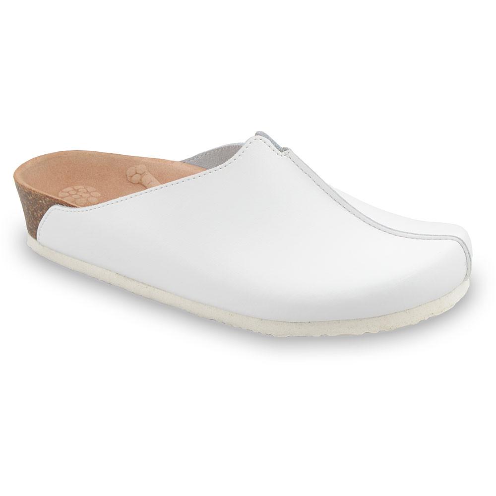 TRISTAN kožené dámské uzavřené papuče (37-41) - bílá, 40