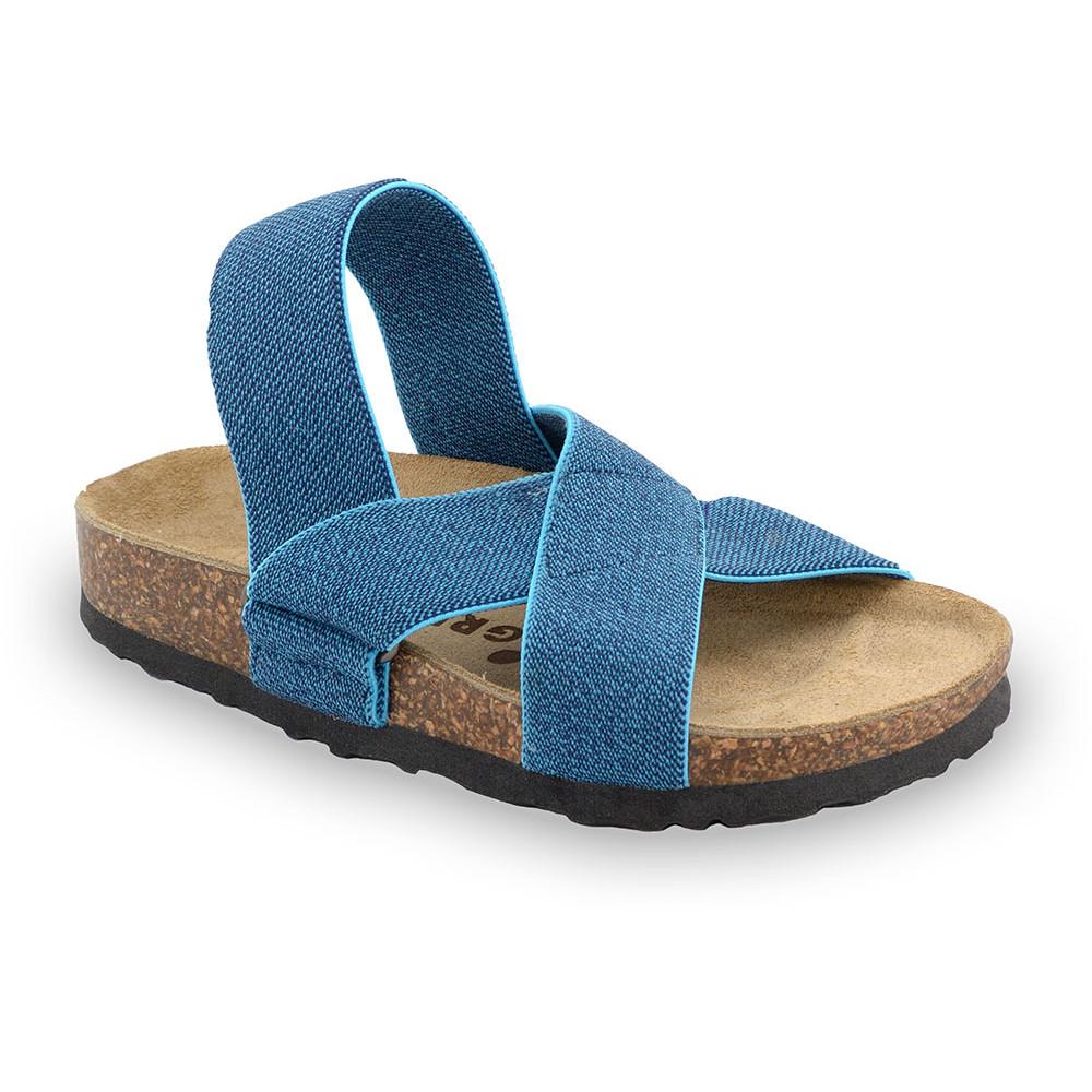 LUI sandály pro děti - tkanina (23-29) - modrá, 28