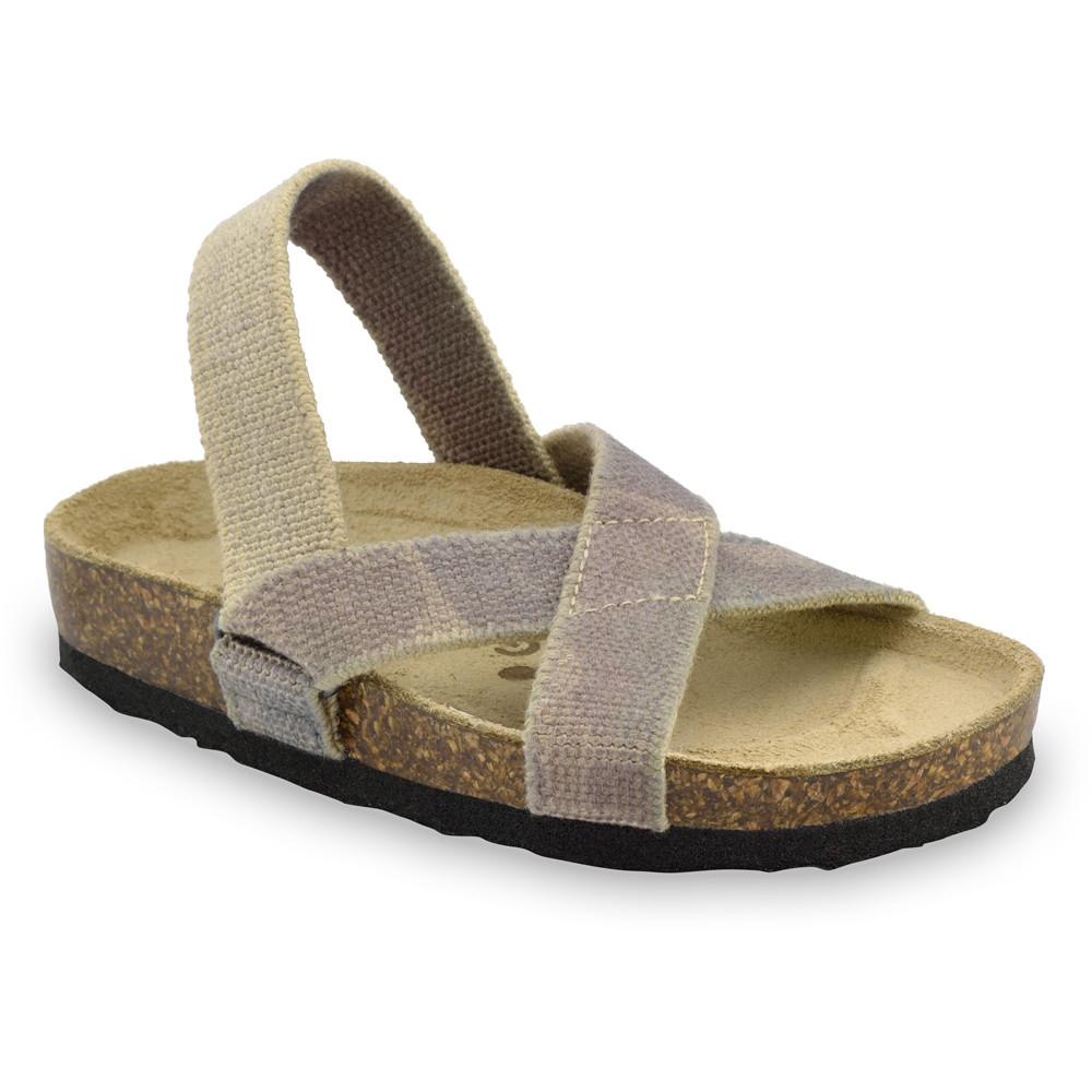 LUI sandály pro děti - tkanina (23-29) - vojenská, 29