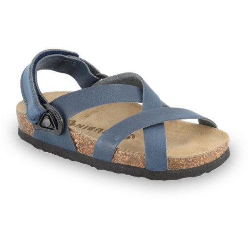 PITAGORA sandály pro děti - kůže nubuk-kast (23-29)