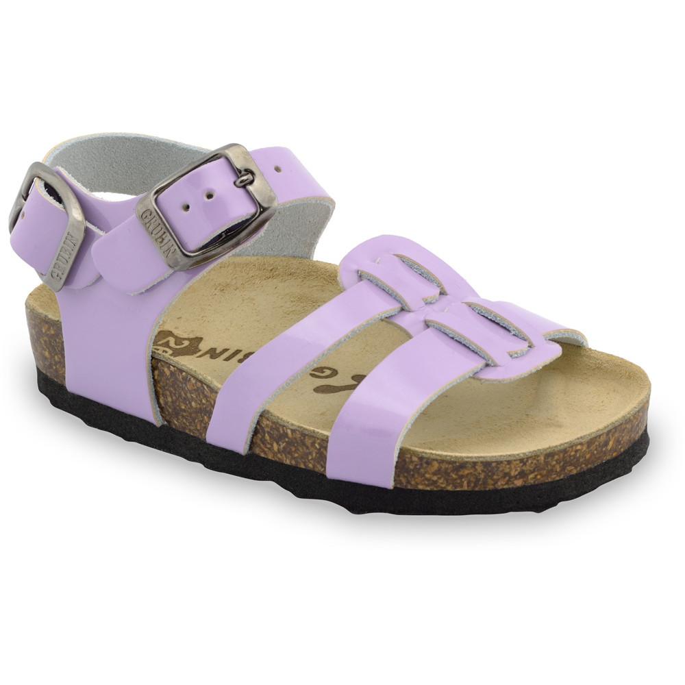 HRONOS sandály pro děti - kůže (23-29) - fialová, 29