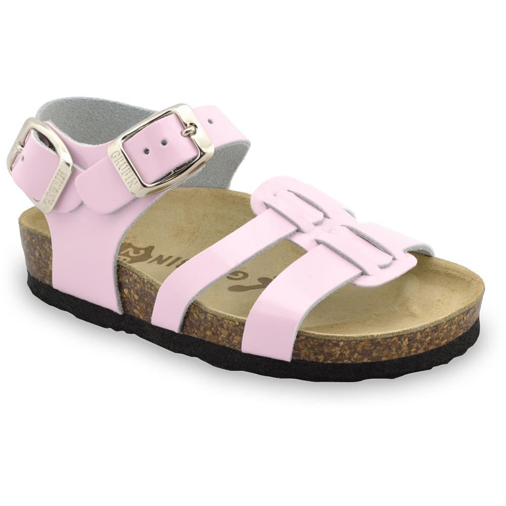 HRONOS sandály pro děti - kůže (23-29) - ružová, 26