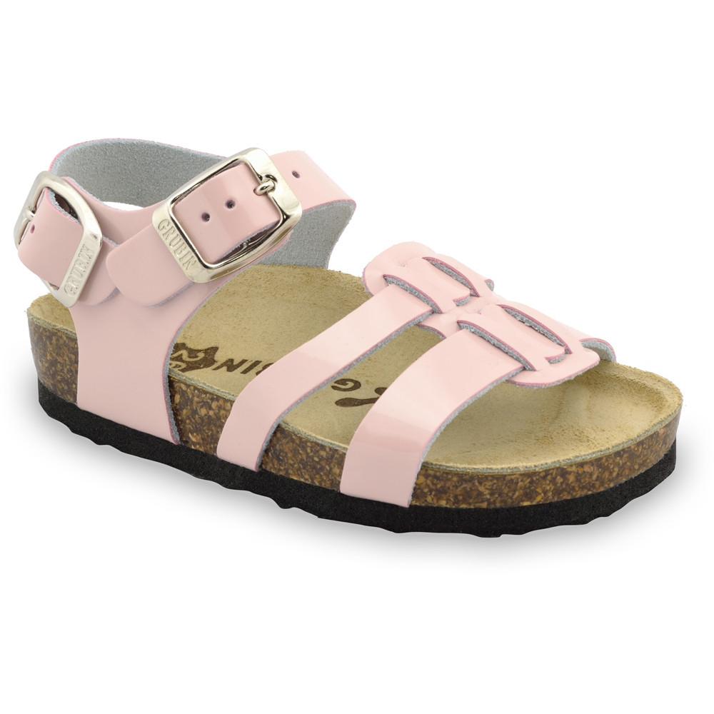 HRONOS sandály pro děti - kůže (23-29) - krémová, 27