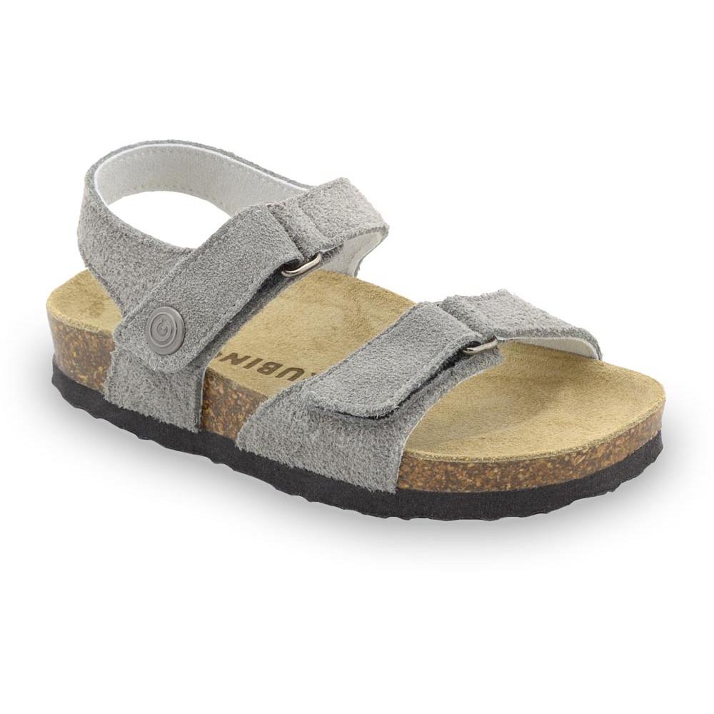 RAFAELO sandály pro děti - semišová kůže (23-29) - šedá, 24