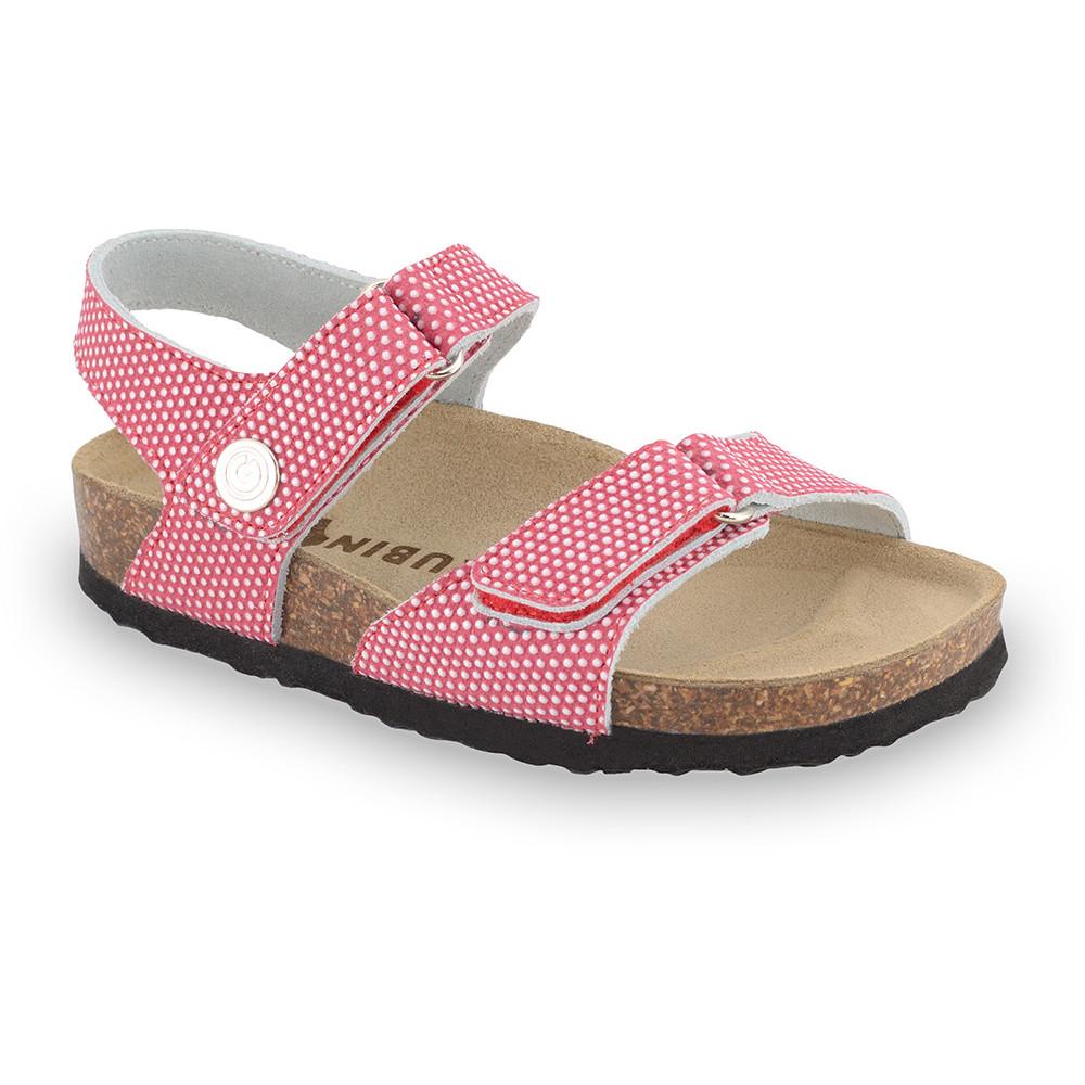 RAFAELO sandály pro děti - kůže kast (23-29) - červená, 26