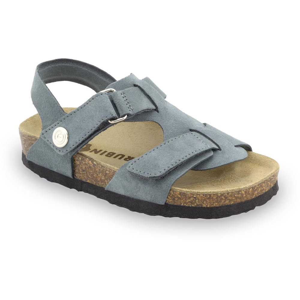 ROTONDA kožené dětské sandály-velur (23-29)