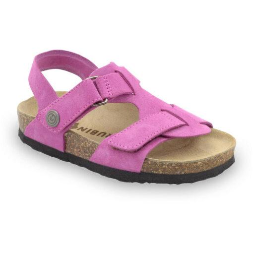 ROTONDA kožené dětské sandály-velur (30-35)