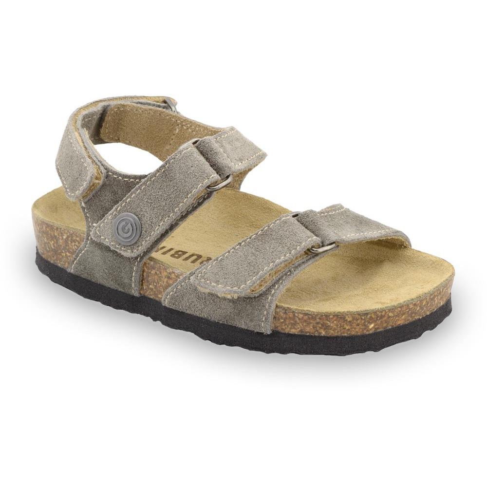 DONATELO sandály pro děti - semišová kůže (30-35) - hnědá, 32