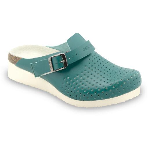 DUBAI papuče uzavřené silverplus - kůže (36-42)