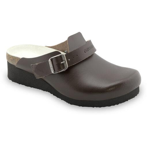 MELBOURNE papuče uzavřené silverplus - kůže (36-42)