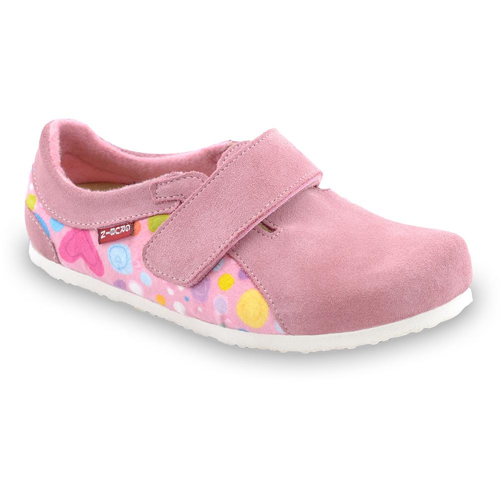 BALI domácí zimní obuv pro děti - plyš (30-35) - ružová, 31