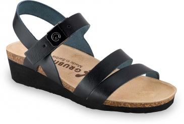 LUCCA | čierna | anatomická obuv Grubin | sandále pre dámy